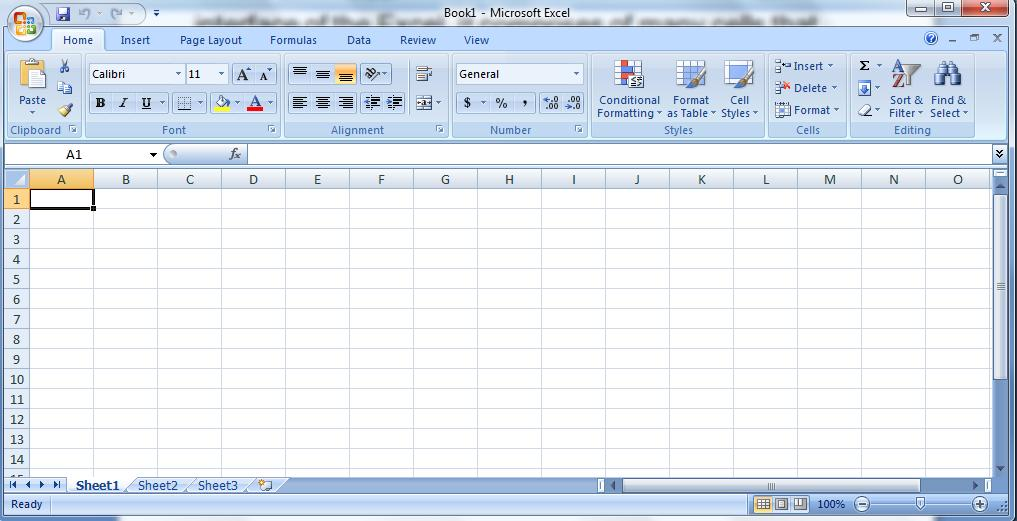 MS EXCEL : Exploring the Excel Environment MS Excel comprises of many cells that are arranged horizontally and vertically in a grid (net/network).