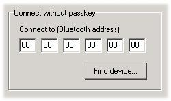 2.5.1 Connect without passkey The connecting without passkey option offers minimal security between devices.