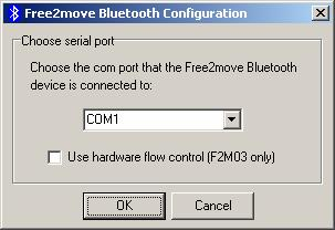 2 Configuring your F2M01 serial port plug Before configuring your F2M01, you must make sure that there is no Bluetooth connection present, otherwise the plug cannot enter configuration mode, i.e. make sure that no other unit is connected to your endpoint or that a running corresponding slave unit is not within range of your connecting Serial Port Plug.