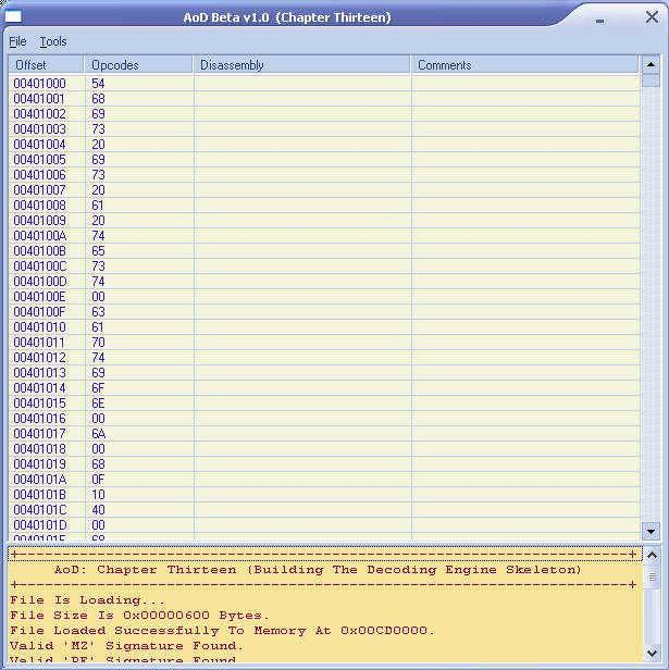 15.2. CONSTRUCTING A BYTES-PARSER 115 As I said, the previous procedure does nothing more than