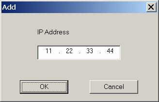 If yur printer IP address in nt listed, click the Add buttn. Enter yur printer IP address and click the OK buttn. Check the checkbx next t yur printer IP address and click the Next buttn.