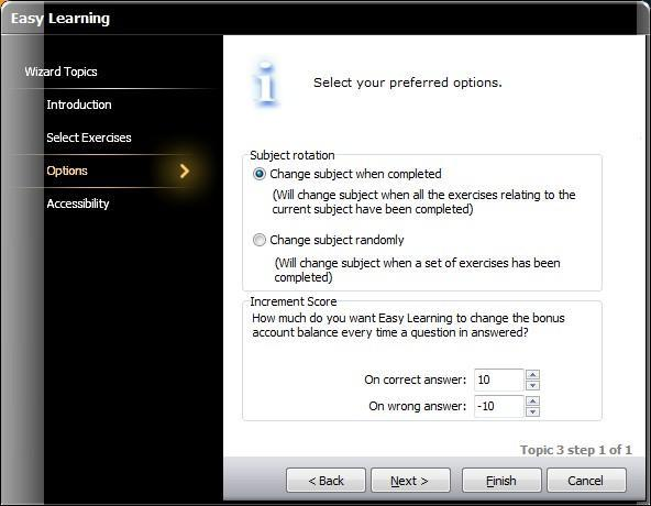 4. Easy Learning (Continued) Key features Click Options, then