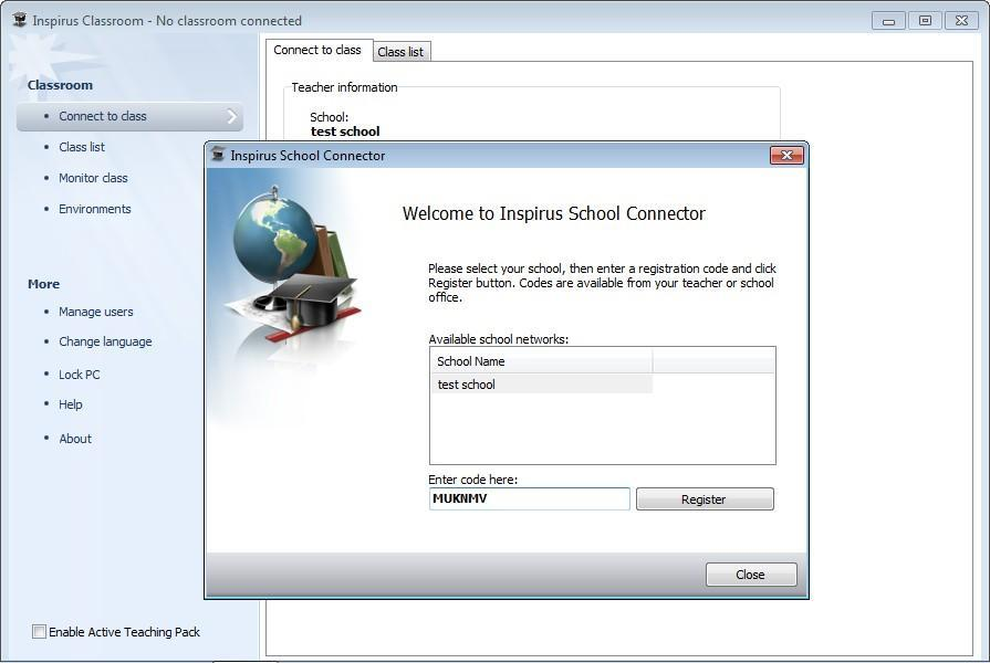 In Class Mode In Class Mode, both the teacher-side and student-side should be connected to the server. 1.
