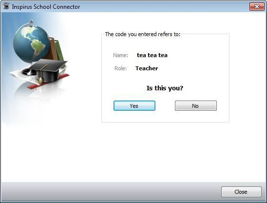 1. Teacher-side connects to the server (Continued) In Class Mode Step3: The School