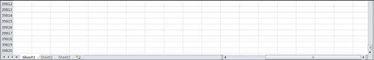 NOTE: There are over a million rows in the spreadsheet.