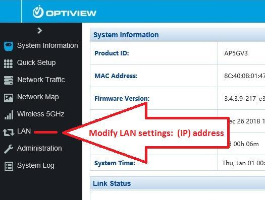 3.4 Assign a local IP address to the WiFi access point.