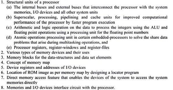 UNIT II PROCESSOR AND MEMORY ORGANIZATION Structural units in a processor;