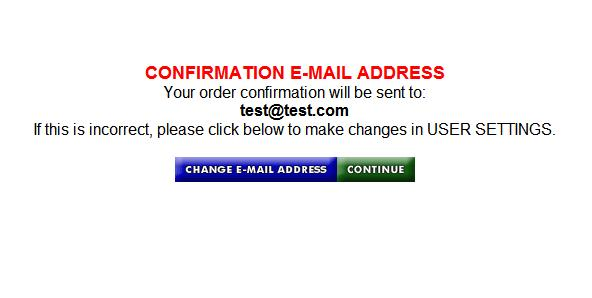 Confirmation E-mail Address The email address linked to the account is displayed-