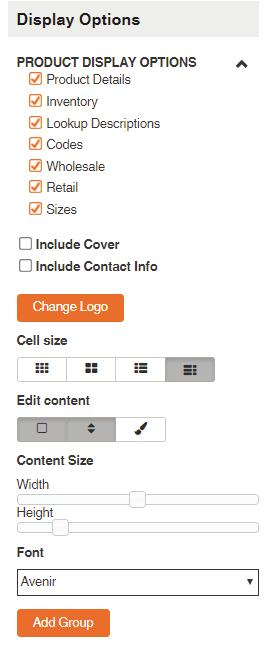 5. After you click Save you will be prompted to a new page displaying the customized line sheet you have created. 5a.