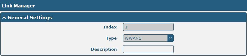 Click on the right-most of WWAN1/WWAN2 to enter the configuration window.