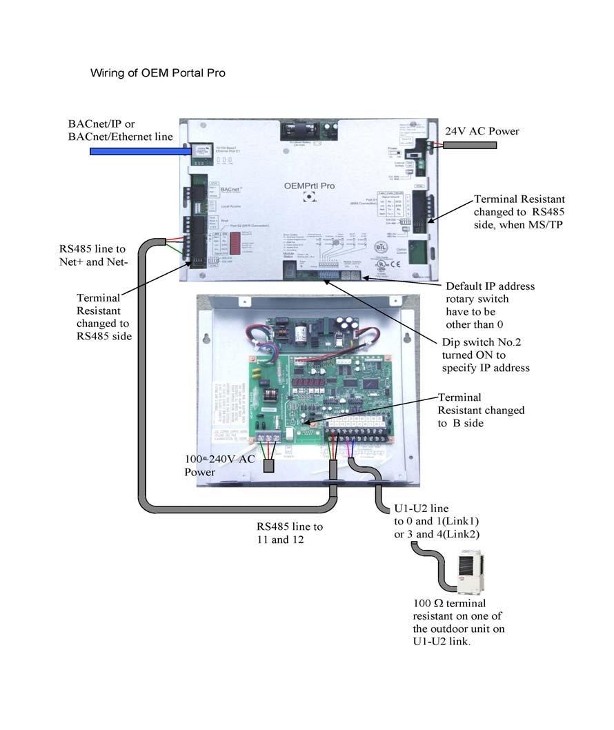 How To Configure The Communication Adaptor For Use With Oem Bacnet Wiring 16 Press Up Button Once Change Last Digit From 0