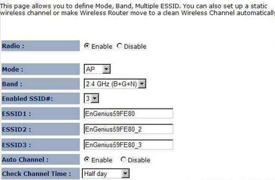 4.2.1.2. Basic Radio: To enable/disable wireless signal. Mode: Define AP in different modes.
