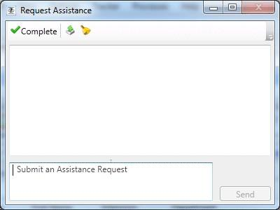 Assistance requests from an agent's perspective In Interaction Client, an agent requests assistance as follows: 1.