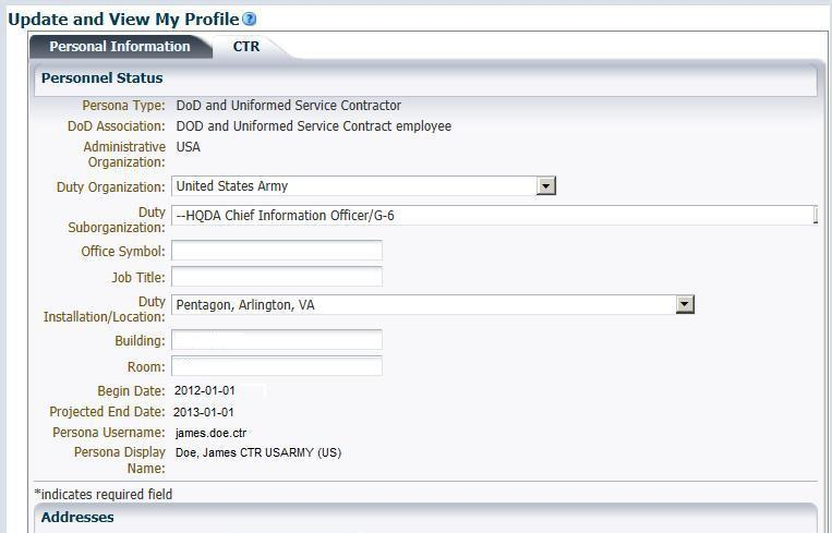 How To Update Your Information In The Dod Enterprise Dee Army