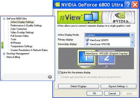 ForceWare Graphics Driver nview Desktop Manager User s Guide - PDF