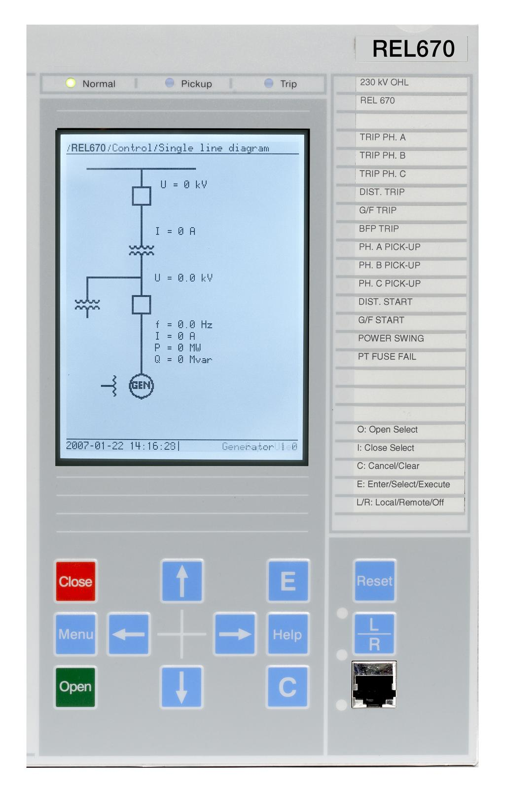 Relion 670 Series Line Distance Protection Rel670 Ansi Pre Over Current Dc Circuit Breaker With Time Delay Beijing 13 Human Machine Interface The Local Hmi