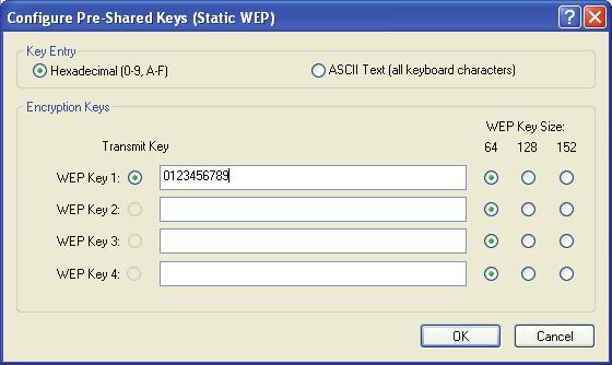 Figure 3-5 Note: Select different Security Options, the configurations are different; you can select the appropriate security option and