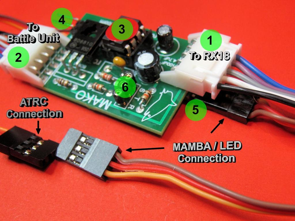 Battle Adapter For Heng Long Tanks Installation Product Notes Pdf Cbl Cbl2 Labpro Control Circuit Diagram At A Glance 1 The Input Connector Mako Plug Extension