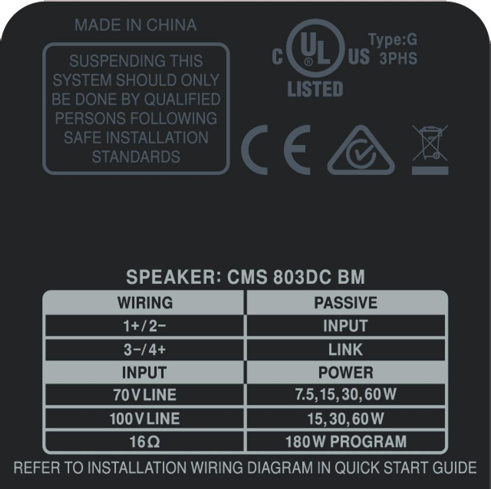 Cms 803dc Bm Optimised For Installation Pdf Wiring Instructions Fidelity Investments Service Support Or More Information Contact The Tannoy Location Nearest You Europe Music