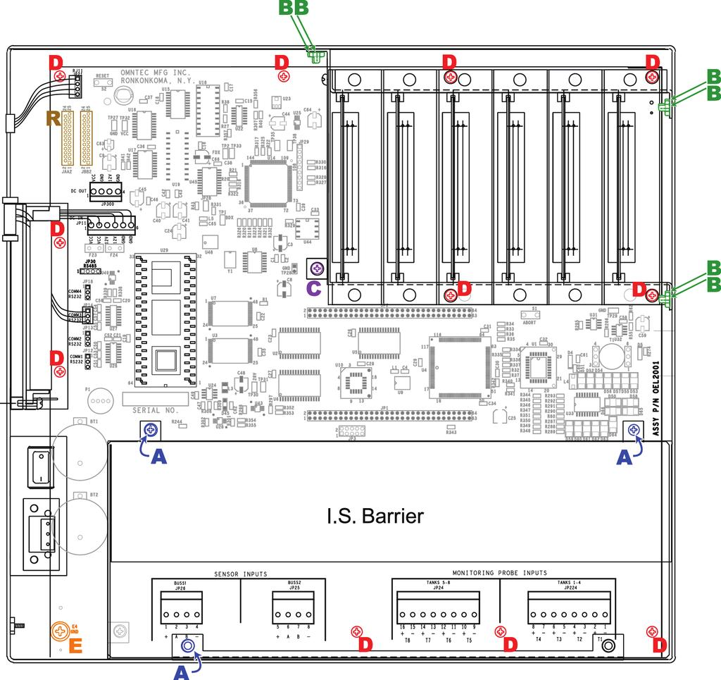 Appendix A Probes Oel8000ii Installation Manual 1 Pdf Istar Panel Wiring Diagram D5 Motherboard Replacement Omntec Instructions For Replacing The In