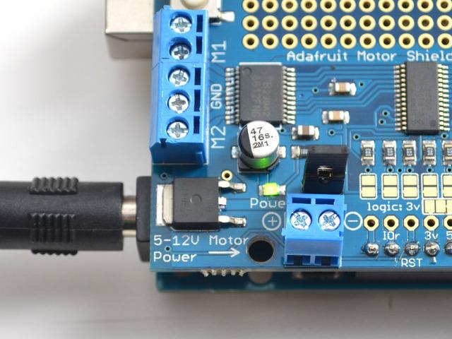 Once you have verified the motor is connected properly and you have the power LED lit