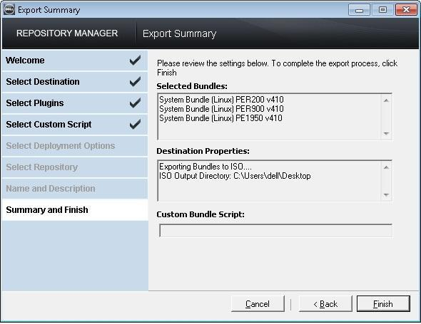 Using Dell Repository Manager to Create a Deployment Media (Bootable