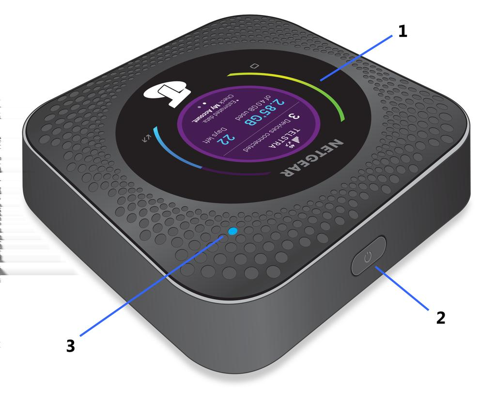 Nighthawk M1 4gx Gigabit Lte Mobile Router User Manual Pdf Diagram Besides Gear Setup On Netgear Hook Up Power Your Number 1 2 3 Description Lcd Screen Button Led To