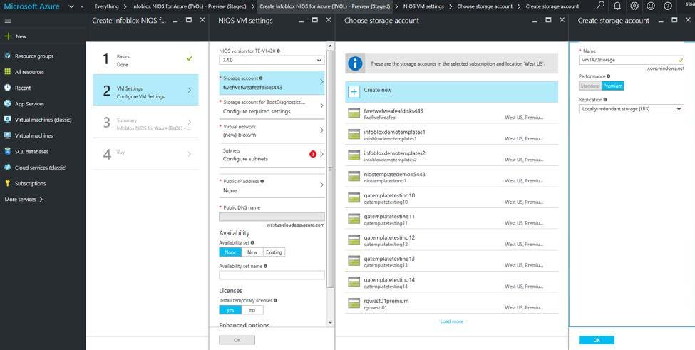 Hot>Table 1 1 lists the Infoblox vnios for Azure appliance