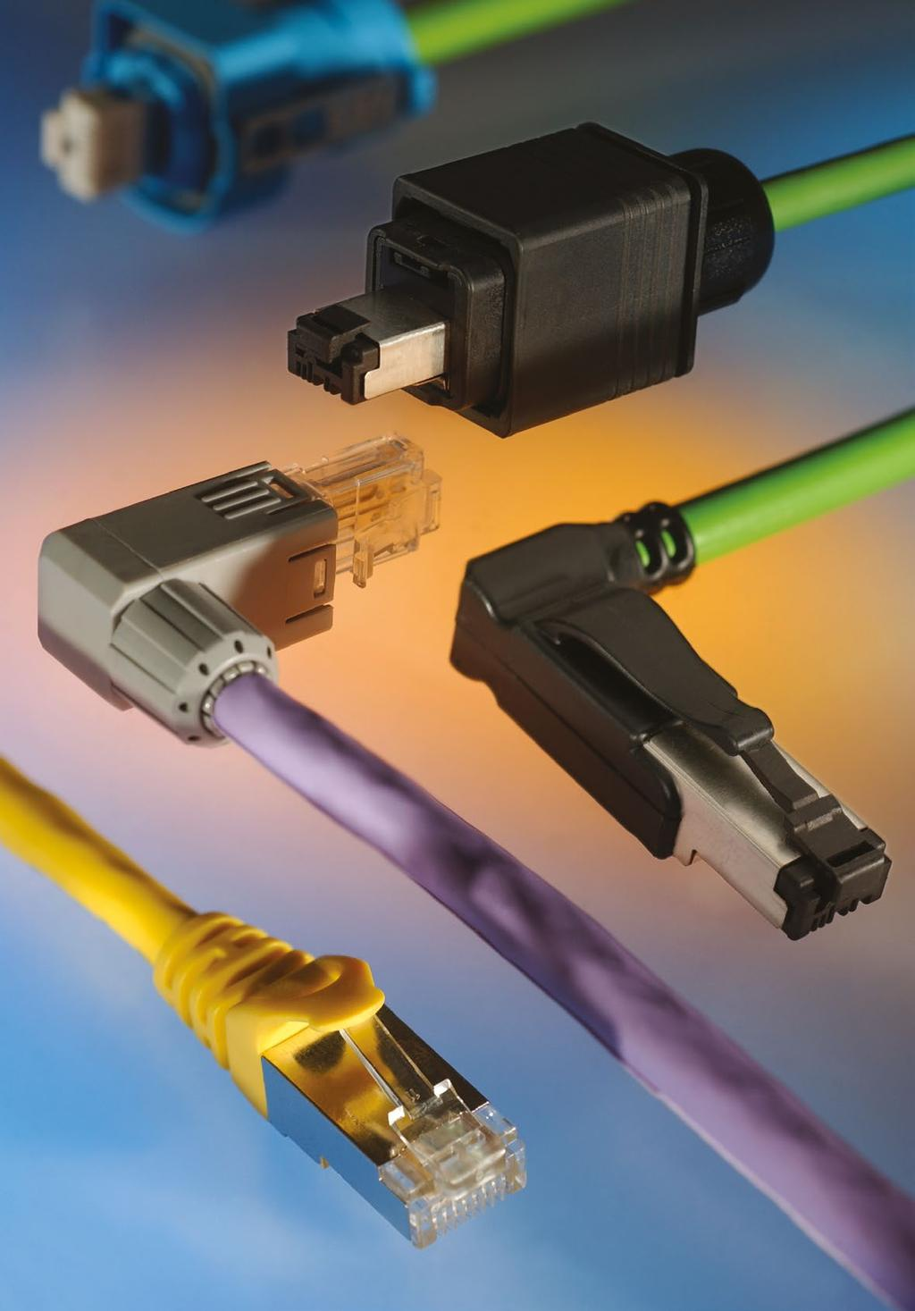 Industrial Ethernet Cables Connectors Copper Fibre Optic The Circuit Board Rj45 Network Cable Connector Waterproof Pre Assembled Profinet Cc Link Ie Side