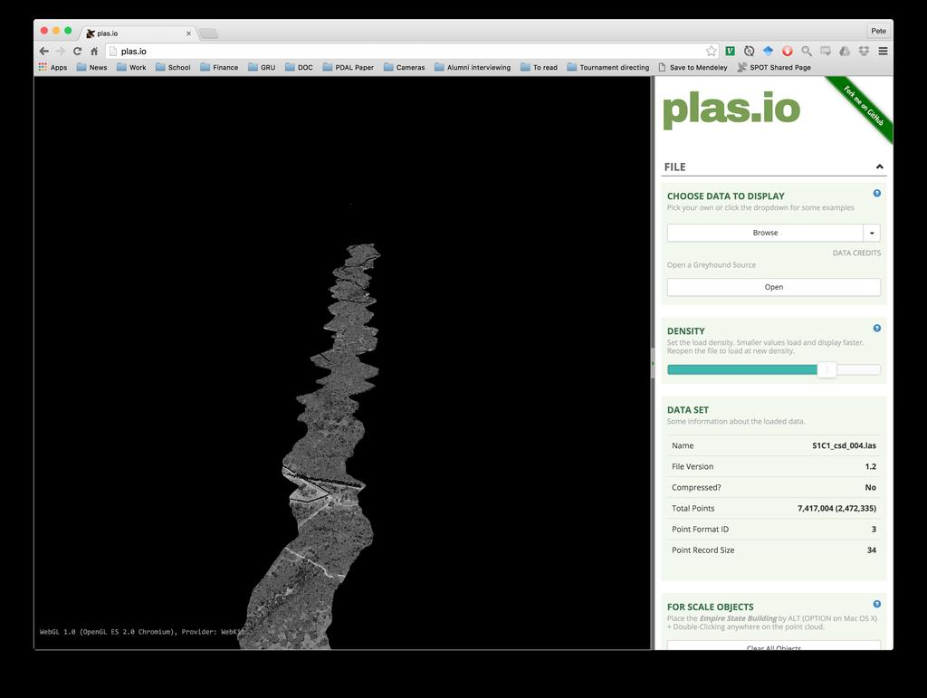 Pdal Point Cloud Data Abstraction Library Pdf Filethree Ic Circuit Chipsjpg Wikimedia Commons Visualization View Your Georeferenced In Http Plasio Fig