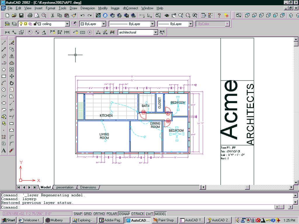 Autocad D Training Manual Pdf Process Flow Diagram Using Layer Previous 124 2d Tutial 1 Open An Drawing With Layers 2