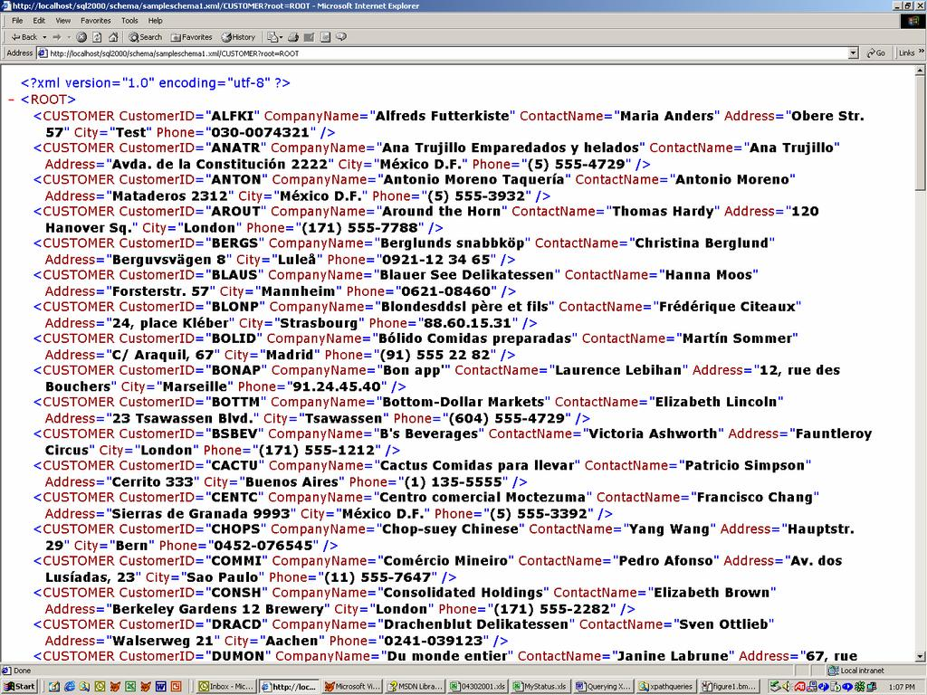 WHITE PAPER. Query XML Data Directly from SQL Server Abstract ...