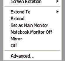 (3) Screen Resolution: In Set as Main Monitor and Extended