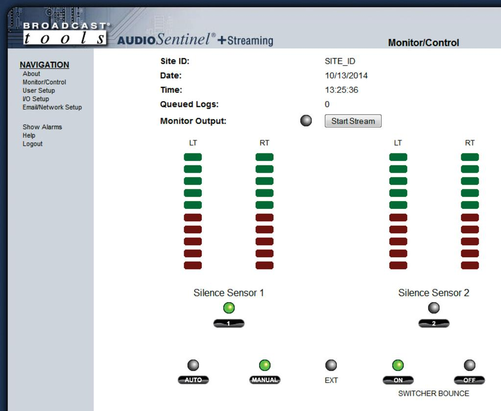 Installation And Operation Manual Pdf Sentinel 500 Wiring Diagram Monitor Control Web Page The Allows Or