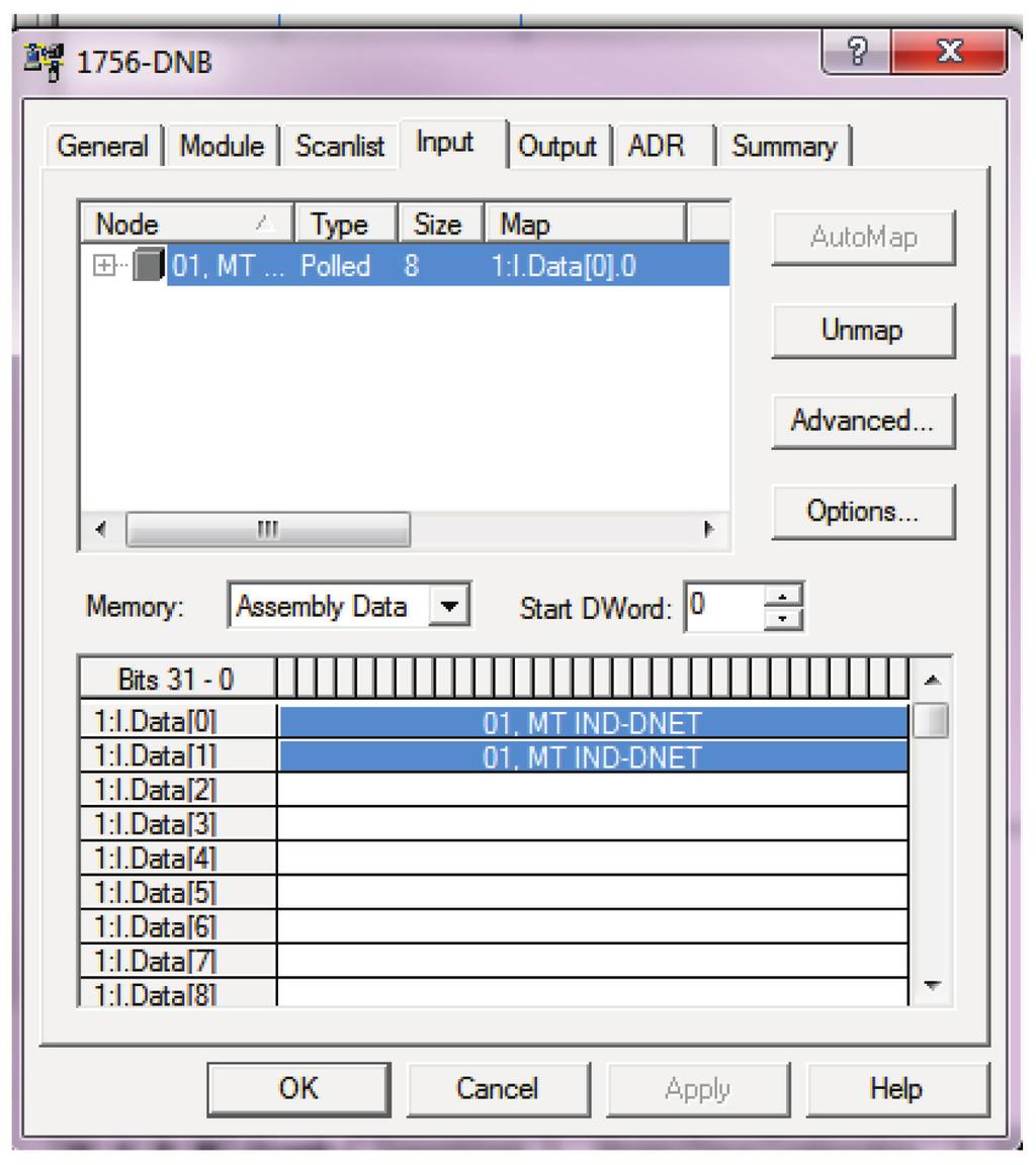 Plc Configuration Guide Ind9d57 Dyn 570 Dynamic Weighing Controller Tesys D Line Wiring Diagram Devicenet Figure 4 2 Connection