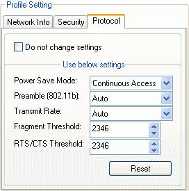 2.4 Protocol Setting You can change your general setting in profile setting page.