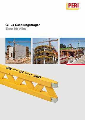 VARIO GT 24 The variable Girder Wall Formwork System with the proven