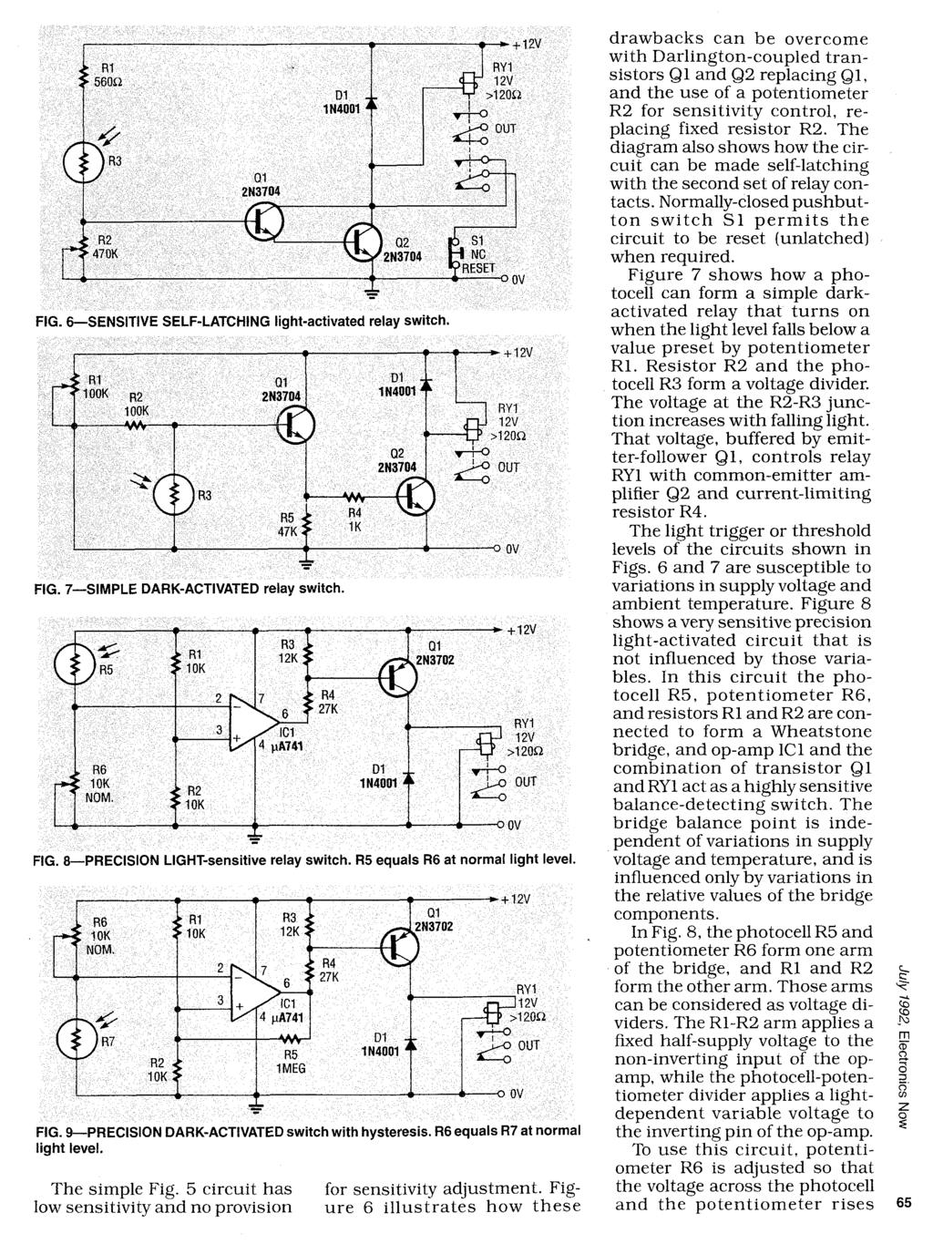 Photosensitive Devices Pdf Light Activated Switch Circuit Diagram 7 Simple Dark Relay Fig 9 Precision