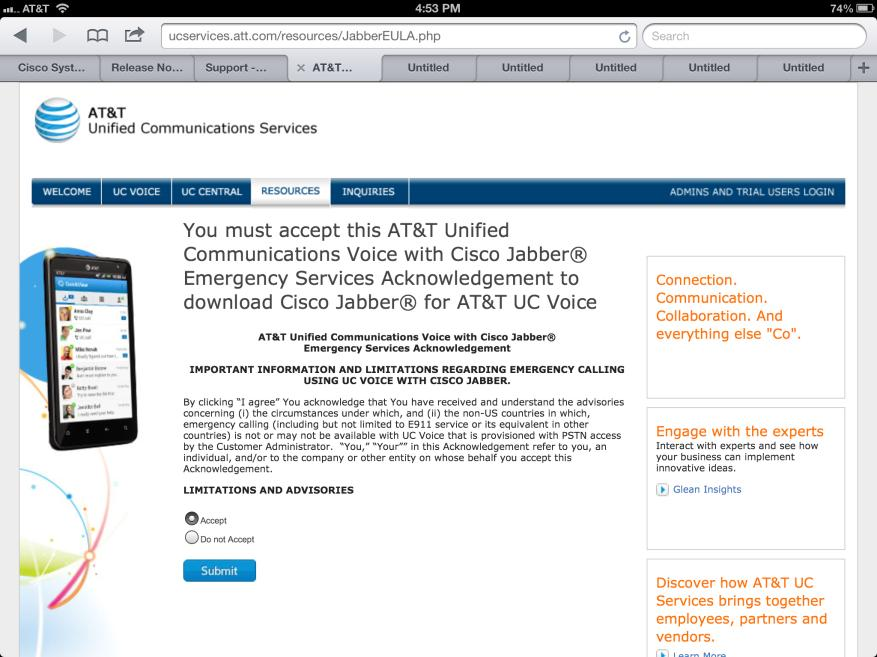 AT&T Unified Communications Services Installing Cisco Jabber for