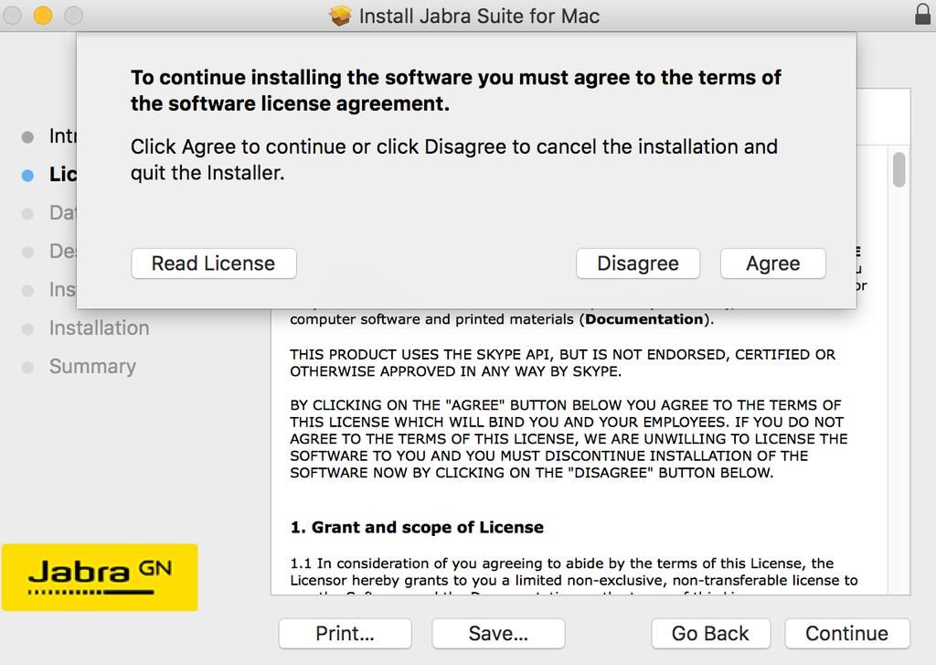 INSTALLING JABRA SUITE FOR MAC - PDF