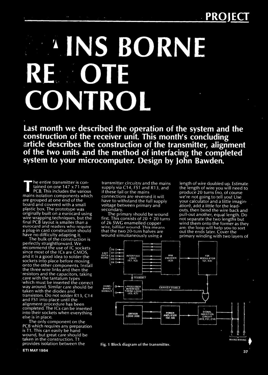 To Build Keep The Electronics Automatic Light Switch Microtanic 19a Power Supply Circuit Free Electronic Circuits 8085 Projects Design By John Bawden Entire Transmitter Is Contained On One 147 X 71 Mm 37 Project
