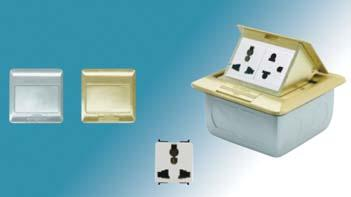 box for SFlexi, brass color Empty floor outlet w. box for series Concept, aluminium color Empty floor outlet w.