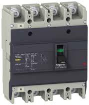 Easypact EZC Range Easypact EZC2F/N/H EasyPact 2 molded case circuit breakers Compliance with IEC 9472, JIS C 8201, NEMA AB1 Breaking capacity at 415V: 18, 25, 36kA Non adjustable thermal and