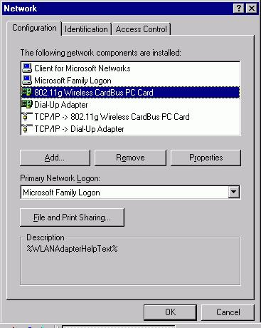 NETWORK CONNECTION Once the driver has been installed, you will need to make adjustments to your network settings. In Windows 98/ME 1.
