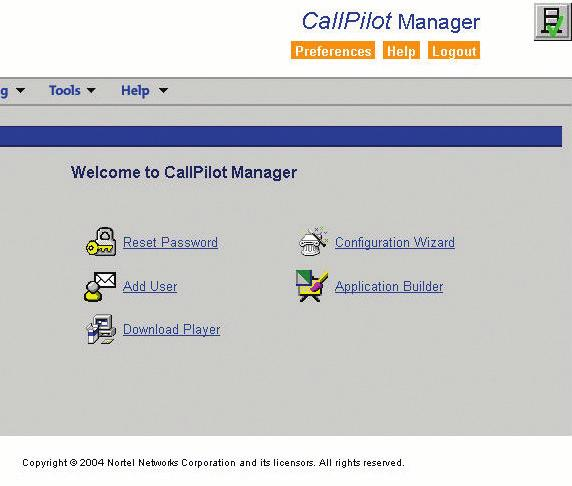 CallPilot Manager provides Web-based administration, reporting and configuration capabilities from any location.