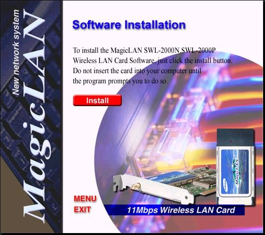 Select software installation to install the required driver for the card.