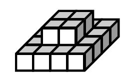 Set 8 1. Look at the figure below. Measure the volume by counting the cubes.