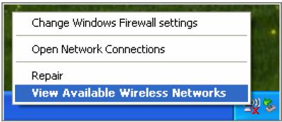 Figure 3-6 2. The tool shows the available wireless networks.