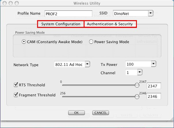 Figure 3-14 4. Once click Profile, you will be prompt to ask for your personal settings such as System Configuration and Authentication & Security.
