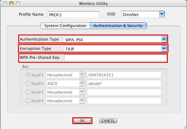 Figure 3-16 6. For WPA or WPA2, please select from Authentication s drop-down list. Select TKIP or AES from Encryption s drop-down list.